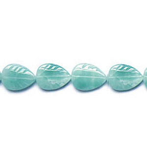 AMAZONITE LEAF 15X20MM