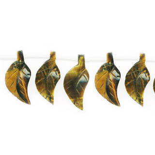TIGER EYE 3D LEAF 15X34MM