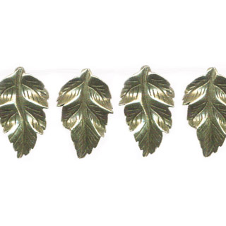 PYRITE CRAVED LEAF 32X47MM