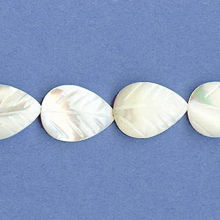 MOP(WHITE) LEAF 08X12MM