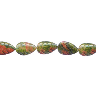 UNAKITE LEAF 08X12MM