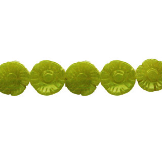 OLIVE JADE FLOWER 14MM