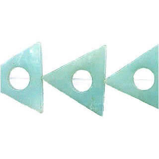 AMAZONITE TRANGLE HOLLOW 16MM