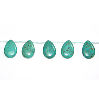 STABLIZED TURQUOISE PEAR 15X20MM SIDE DRILL