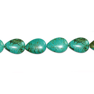 STABLIZED TURQUOISE PEAR C/D 18X25MM