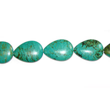 STABLIZED TURQUOISE PEAR 22X30MM