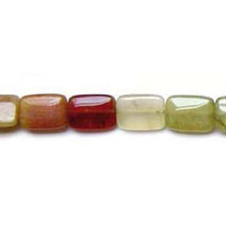 RAINBOW NEW JADE RECTANGLE 22X30MM