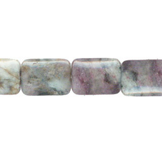 RED TOURMALINE RECTANGLE 22X30MM