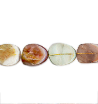MULTI RUTILATED QUARTZ  FREE FORM 18X25-25X30MM