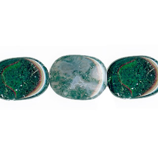 MOSS AGATE FREE FORM 15X20MM