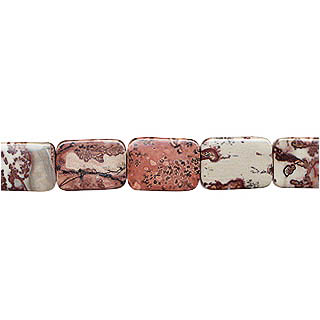 RED PICTURE JASPER TV SHAPE 18X24MM