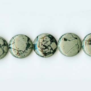 GREEN WEB JASPER DISC 18MM