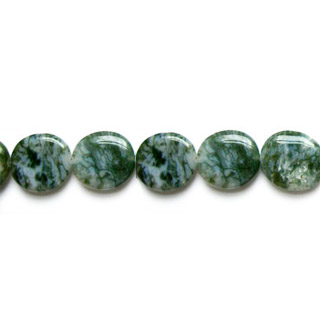 MOSS AGATE COIN 25MM