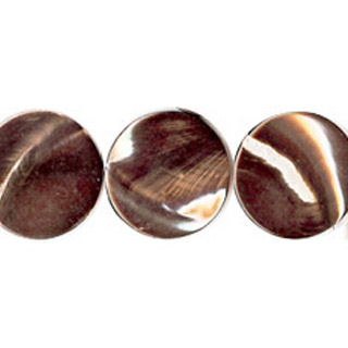 MOP(ELECTROPLATE BROWN) COIN 25MM