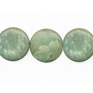 GREEN PICASSO JASPER DISC 35MM