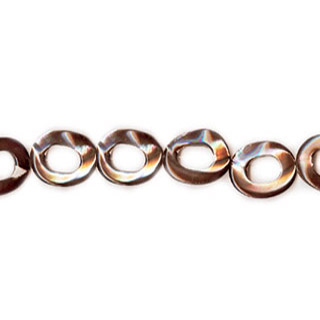 MOP(ELECTROPLATE BROWN) TWIST DONUT 12MM