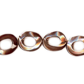 MOP(ELECTROPLATE BROWN) TWIST DONUT 15MM
