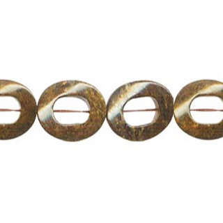 BRONZITE TWIST DONUT 25MM