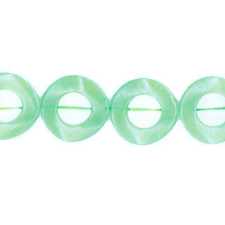 DYED JADE TWIST DONUT 25MM LIGHT GREEN