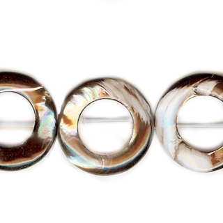 MOP(ELECTROPLATE BROWN) TWIST DONUT 25MM