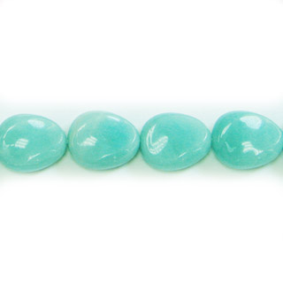AMAZONITE TWIST PEAR 18X22MM