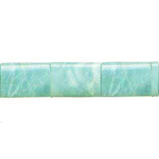 AMAZONITE OVAL TUBE 25X35MM