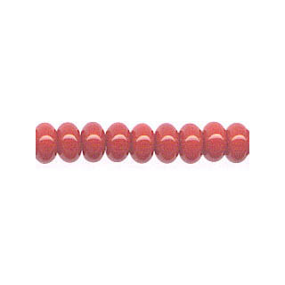 DYED RED CORAL ROUNDEL 6MM