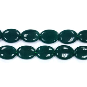 DYED JADE FLAT OVAL 18X25MM TEAR GREEN