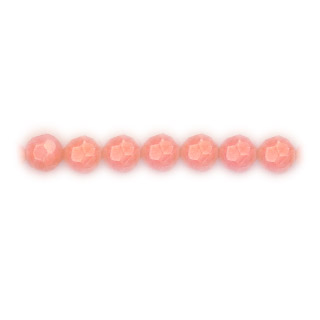 FACETED ROUND 5MM DYED PINK CORAL