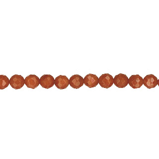DYED RED CORAL FACETED ROUND 4-4.5MM