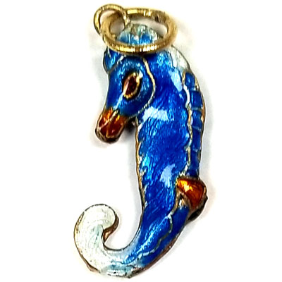 ENAMEL HIPPOCAMPUS 12X24MM LIGHT BLUE