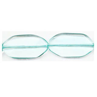 AQUAMARINE QUARTZ  FACETED OVAL FREEFORM 24X44MM