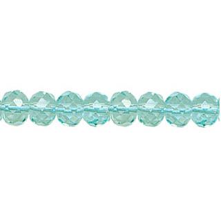 AQUAMARINE QUARTZ FACETED ROUNDELLE 06MM