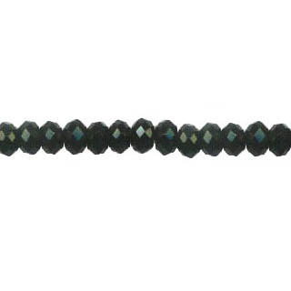 BLACK ONYX FACETED ROUNDELLE 10MM