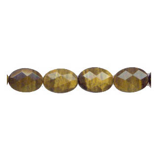 TIGER EYE FACETED FLAT OVAL 13X18MM