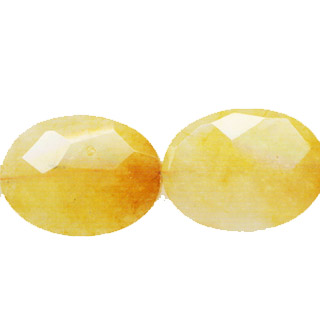 YELLOW QUARTZ30X40F. FLAT OVAL