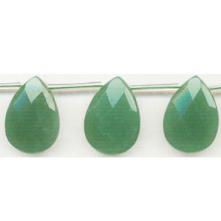 AVENTURINE FACETED PEAR S/D 16X25MM