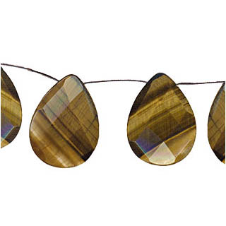 TIGER EYE FACETED PEAR S/D 16X25MM