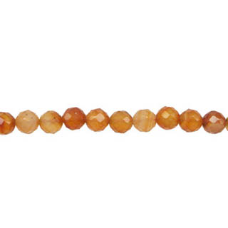 CARNELIAN(NATURAL) 04MM FACETED ROUND