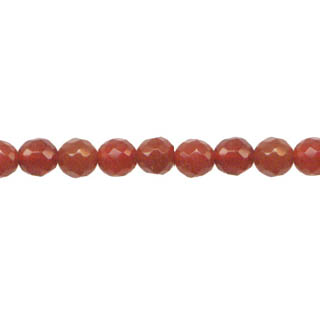 CARNELIAN 04MM FACETED ROUND