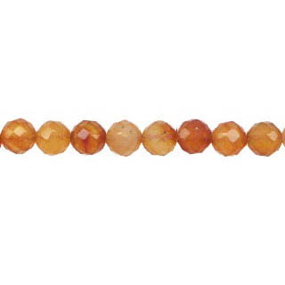 CARNELIAN(NATURAL) 06MM FACETED ROUND