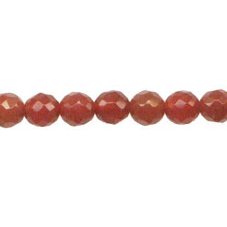 CARNELIAN 06MM FACETED ROUND