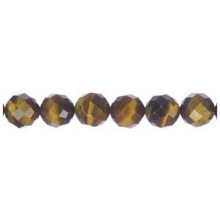 TIGER EYE FACETED ROUND 08MM