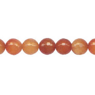 CARNELIAN(NATURAL) 10MM FACETED ROUND