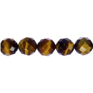 TIGER EYE FACETED ROUND 10MM
