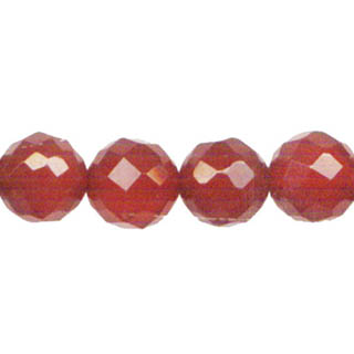 CARNELIAN 12MM FACETED ROUND