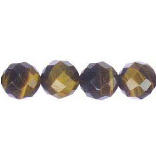 TIGER EYE FACETED ROUND 12MM