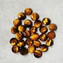 08MM FACETED ROUND CABOCHON TIGER EYE(10PCS/BAG)