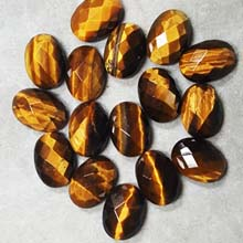 10X14MM FACETED OVAL CABOCHON TIGER EYE(8PCS/BAG)