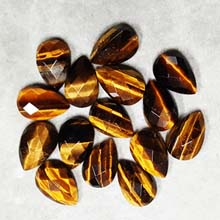 10X15MM FACETED PEAR CABOCHON TIGER EYE(8PCS/BAG)